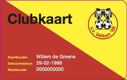 Introductie Clubkaart seizoen 2021-2022 (Bonus voor spelende en trouwblijvende seniorleden seizoen 2020-2021).