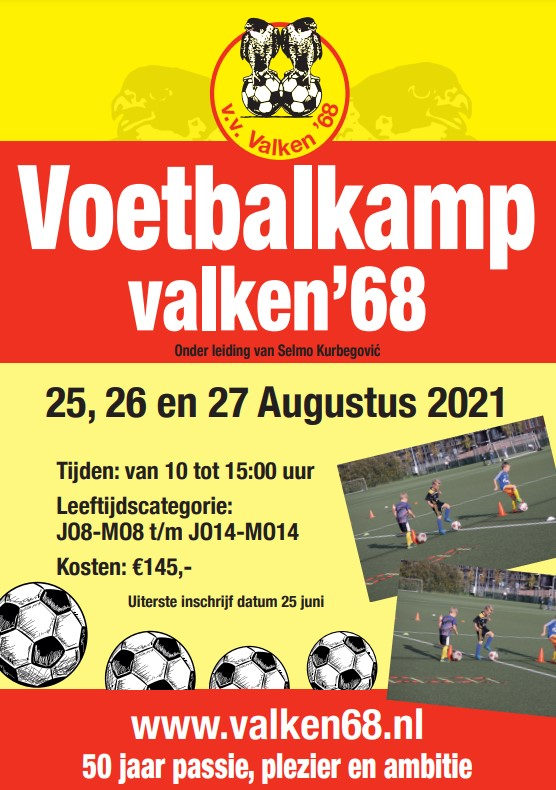 Voetbalkamp Valken'68 2021