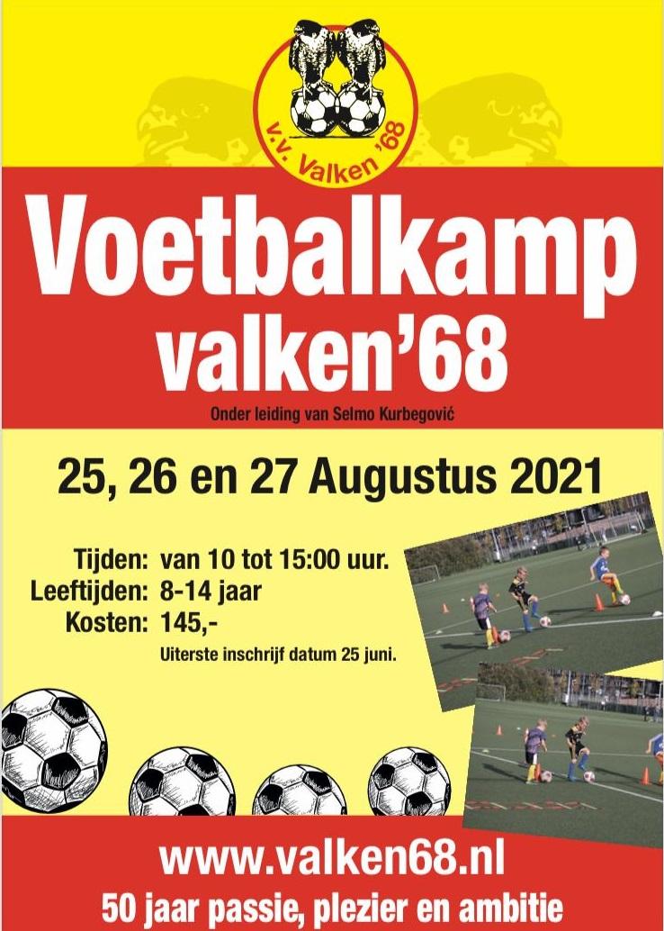Inschrijving 3 daags Voetbalkamp Valken'68 - 25, 26 en 27 Augustus 2021